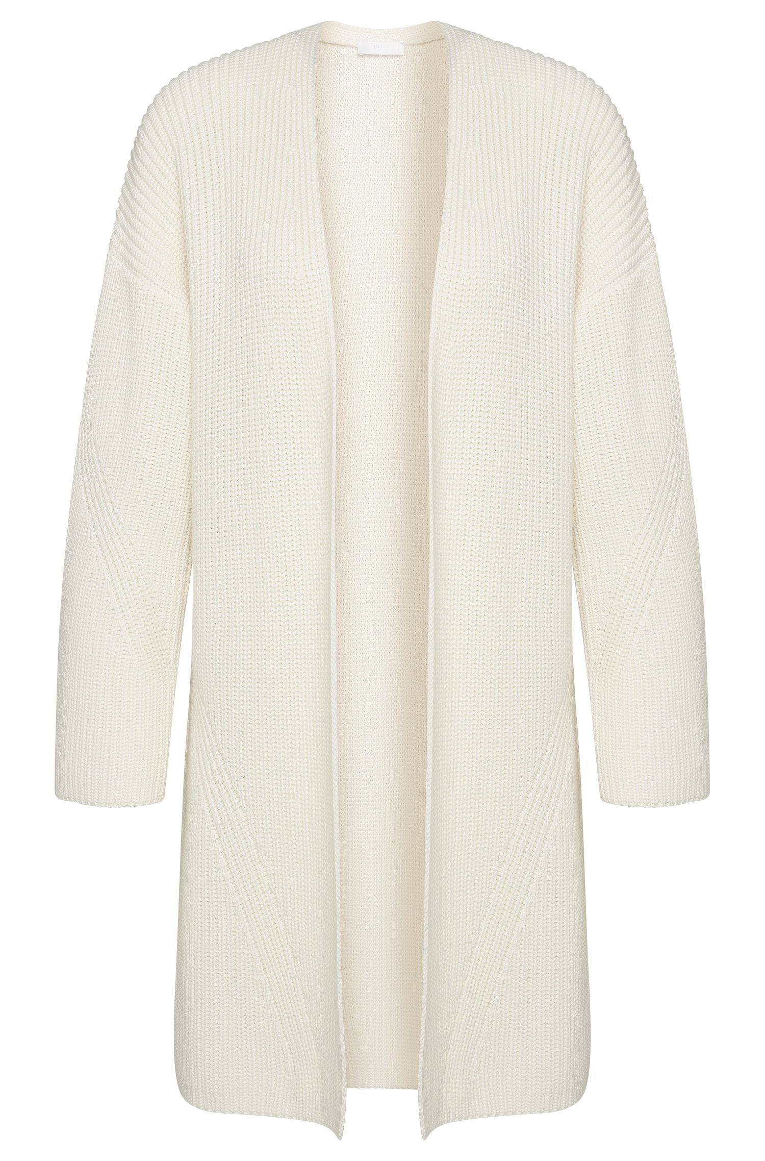 Open cardigan in a cotton blend with silk and cashmere: 'Firenza'