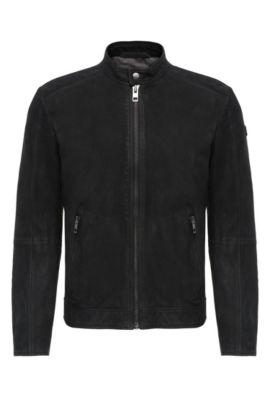 Bikerjacke aus Leder: ´Jonate`, Schwarz