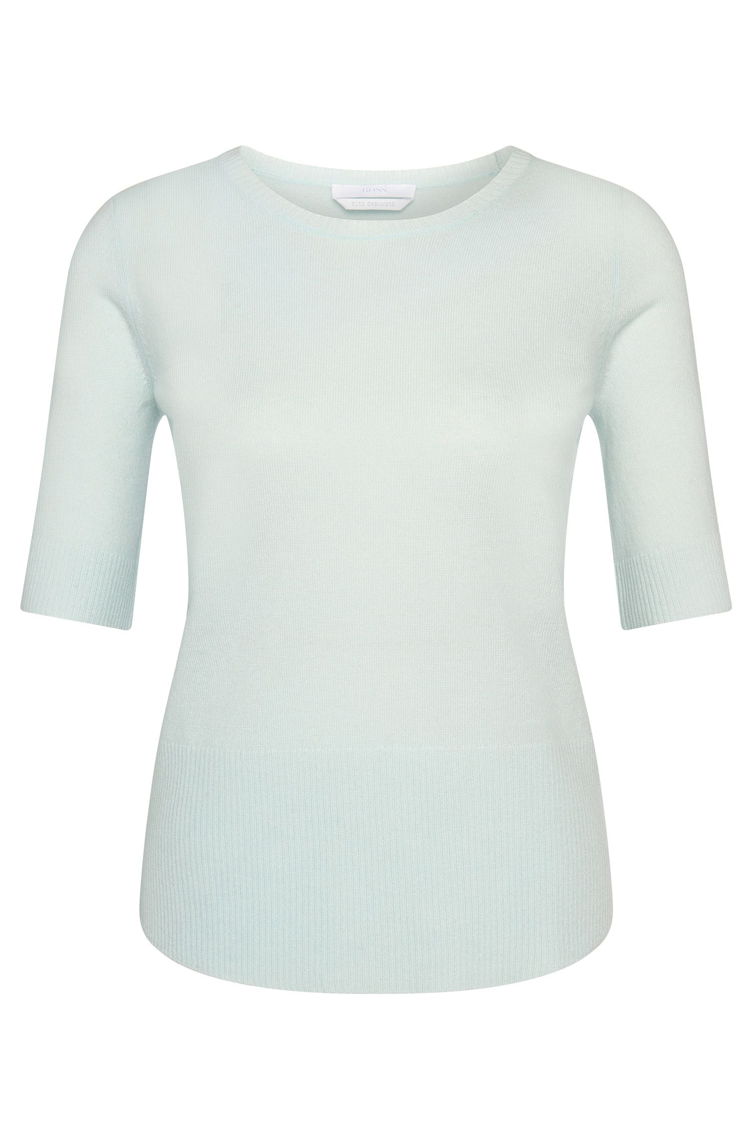Cashmere sweater with mid-length sleeves: 'Femi'