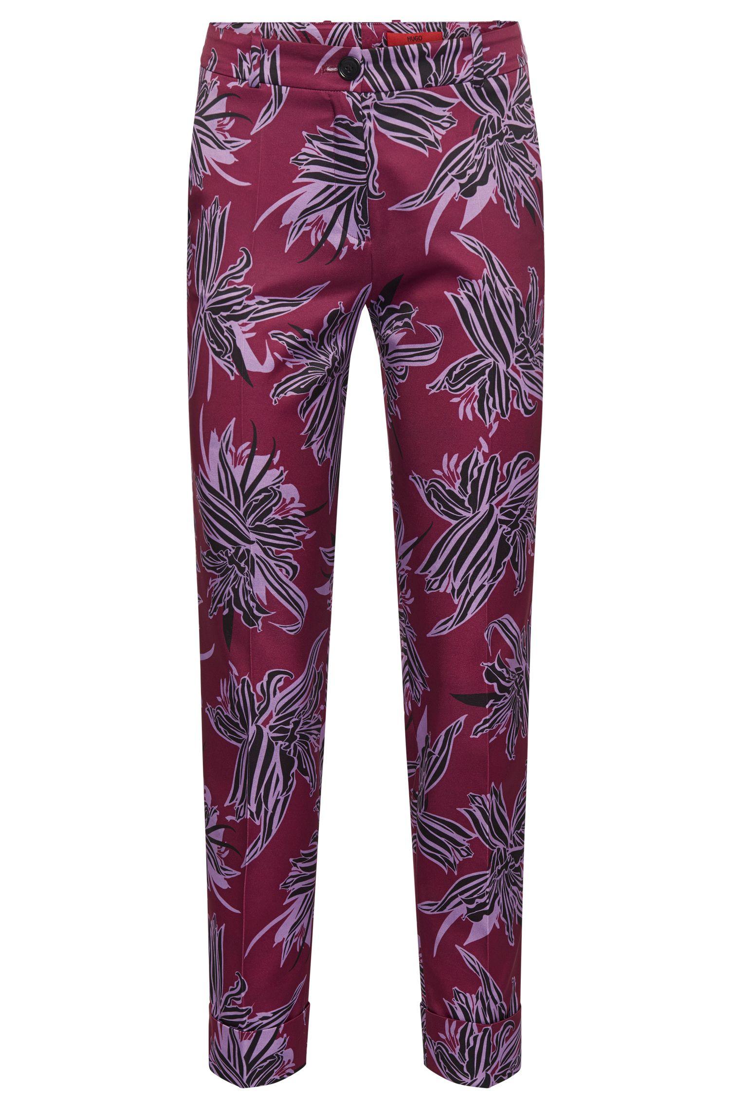 Pantaloni a disegni con orli con risvolto: 'Hulya'
