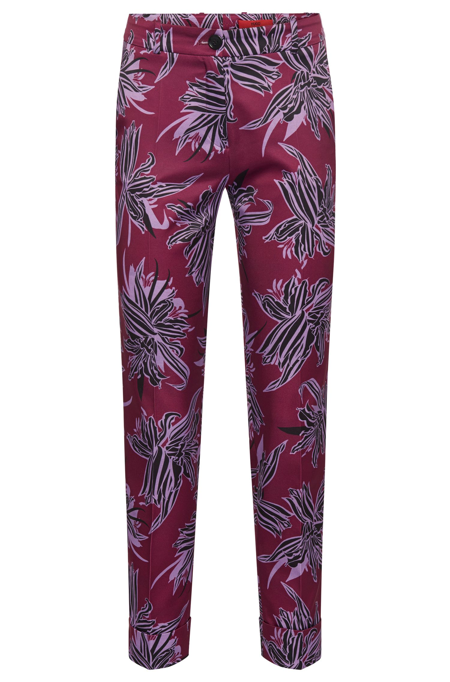 Patterned trousers with turn-ups: 'Hulya'