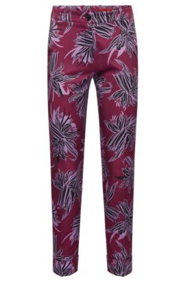 Patterned trousers with turn-ups: 'Hulya', Patterned