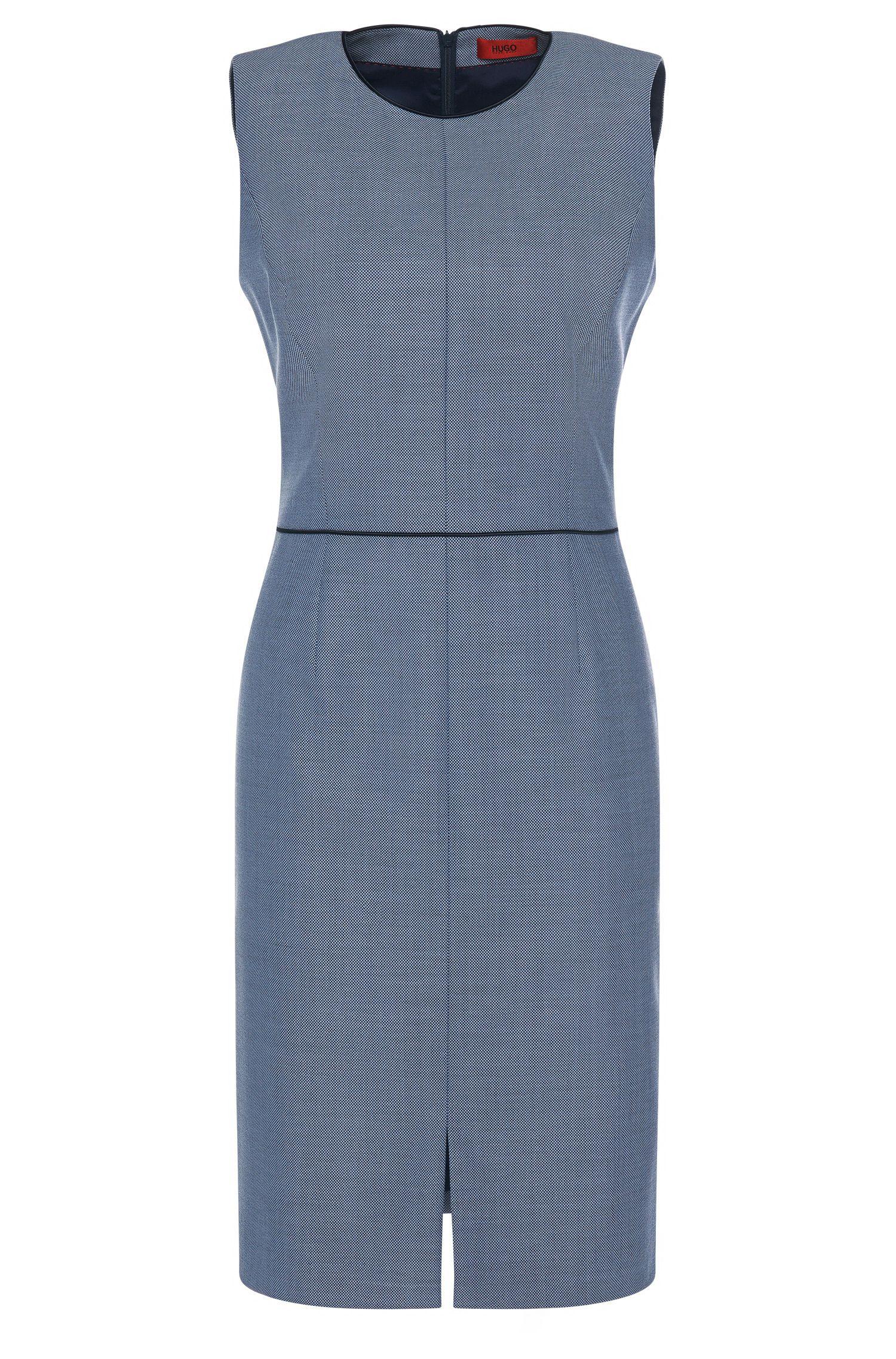 Vestido tubo con estampado elegante en lana virgen elástica: 'Klenni-1'