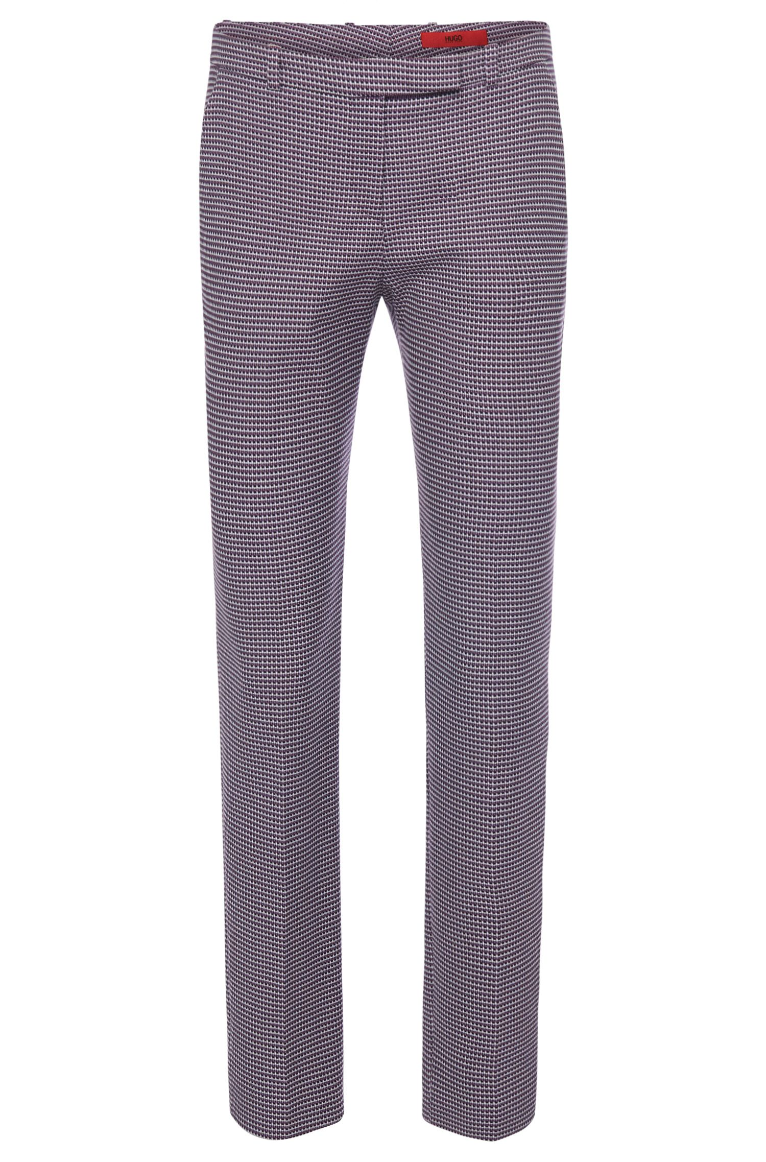 Finely patterned trousers in stretch cotton: 'Harile-3'