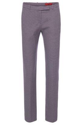 Pantalon à motif fin, en coton stretch: «Harile-3», Lilas