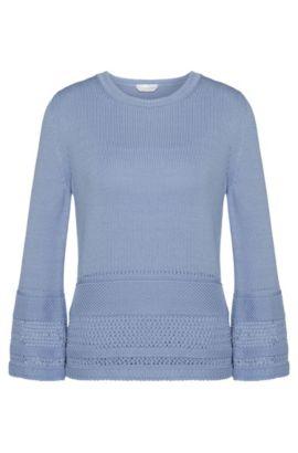 Jersey de algodón con estampado perforado: 'Fanchoni', Turquesa
