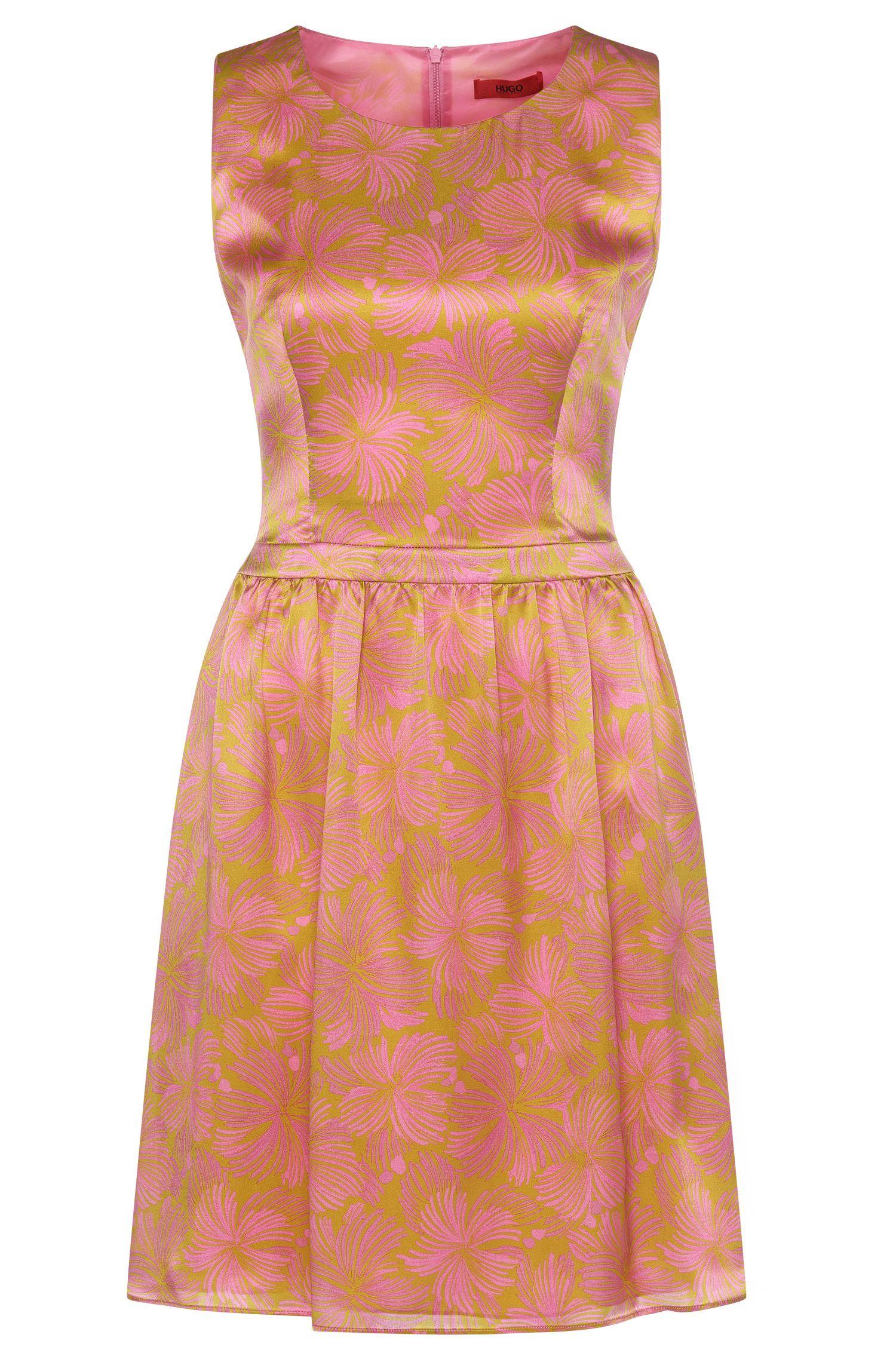 Gemustertes Kleid aus Seide: 'Kevera'
