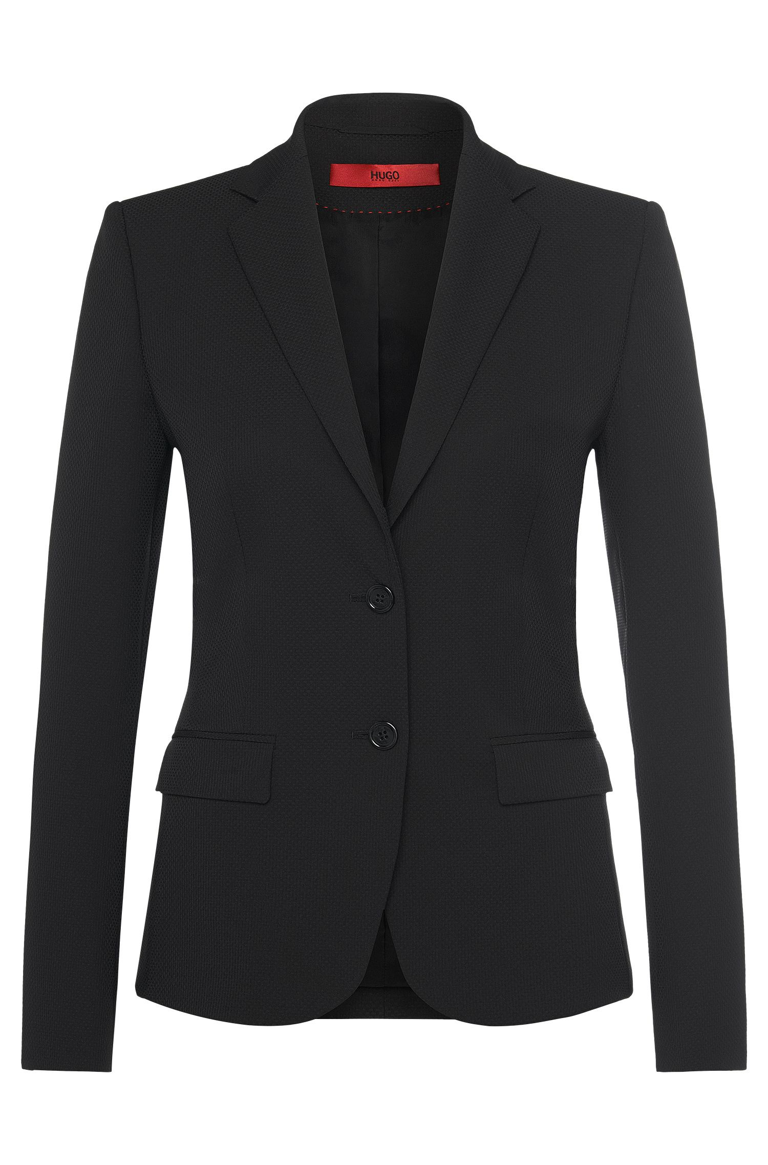 Textured blazer in stretchy fabric blend: 'Amiesa-2'
