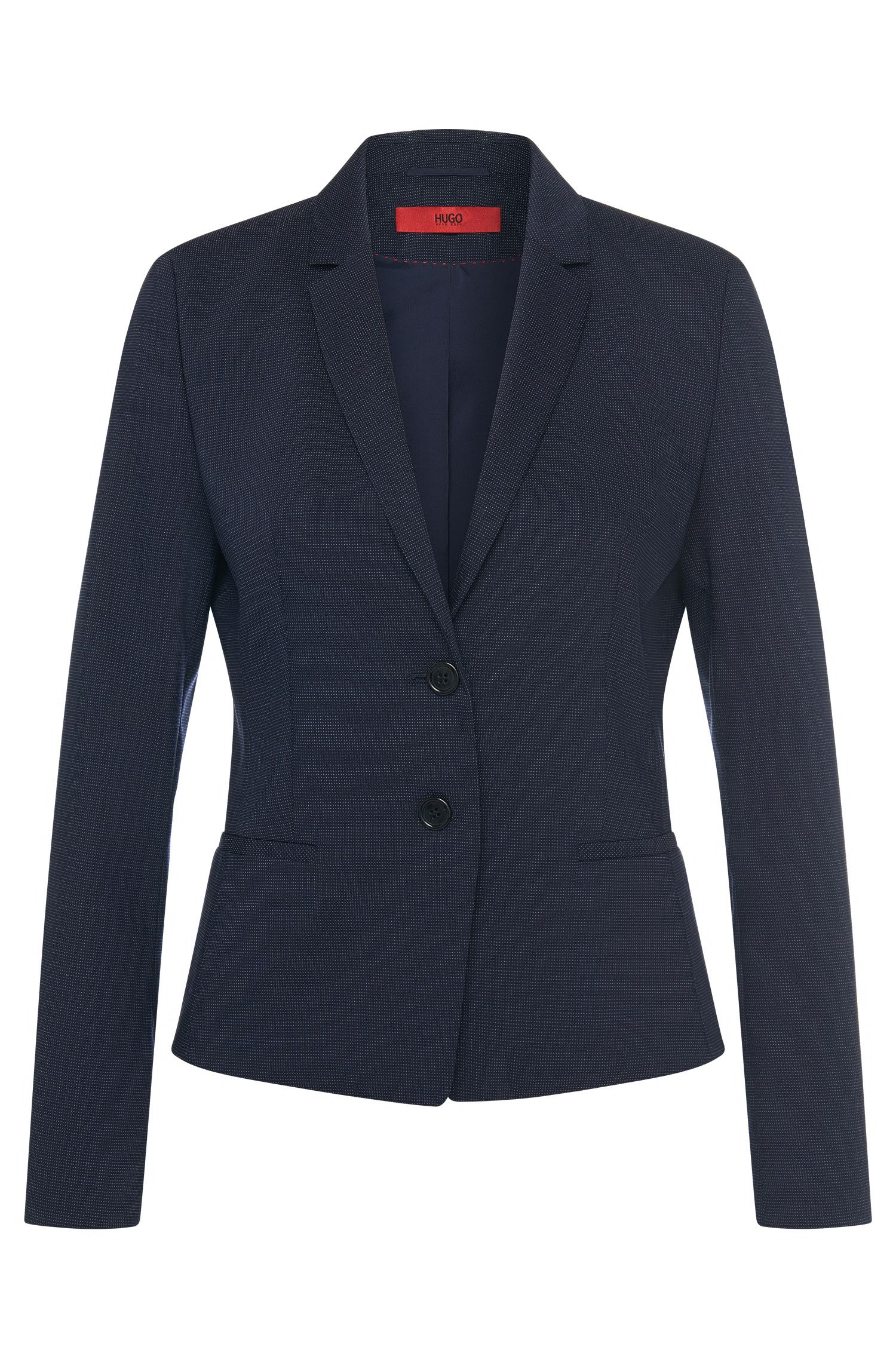 Intricately patterned blazer in stretch new wool: 'Afrona'
