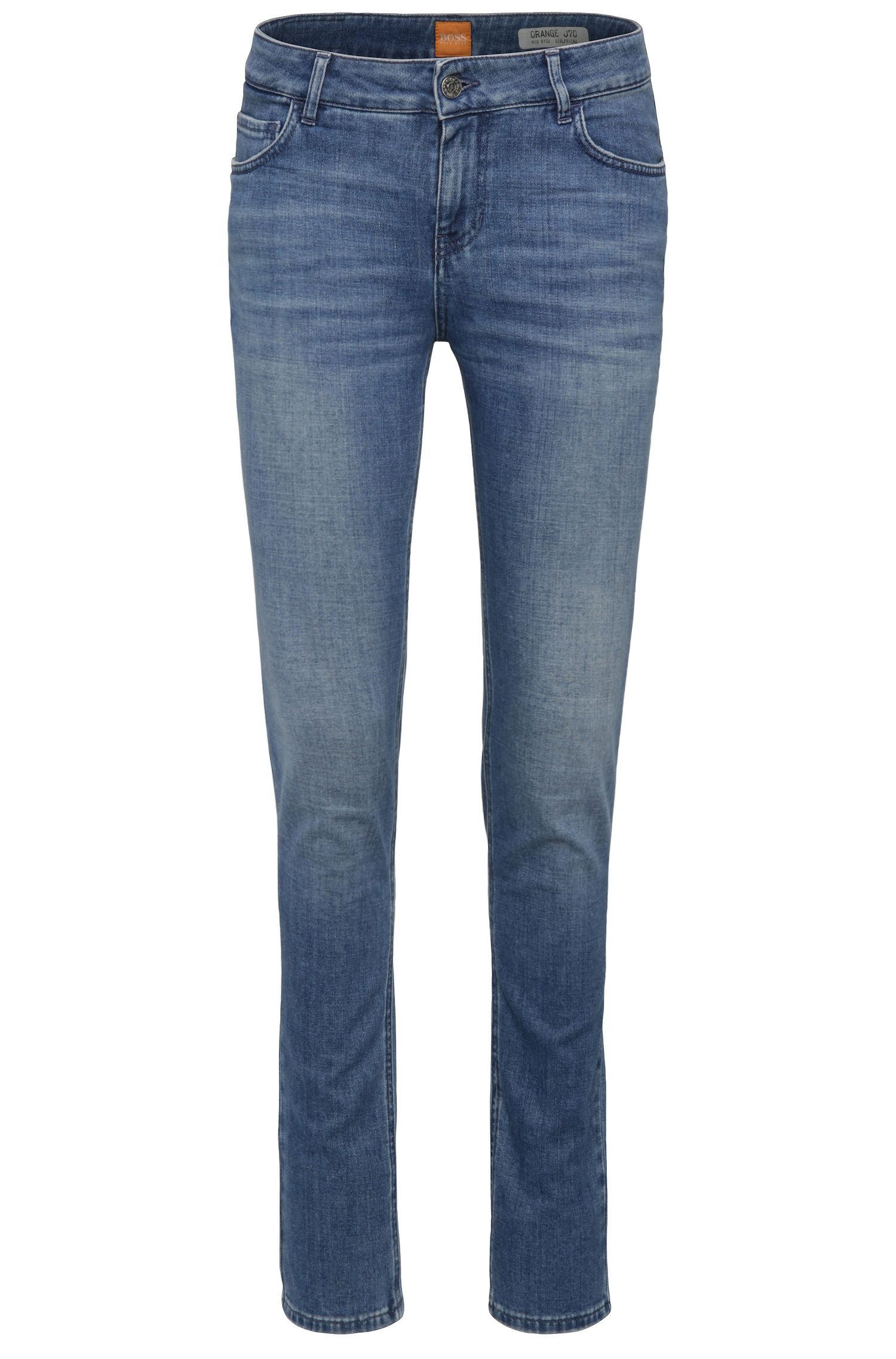 Slim-Fit Jeans aus elastischem Baumwoll-Mix: ´Orange J70`