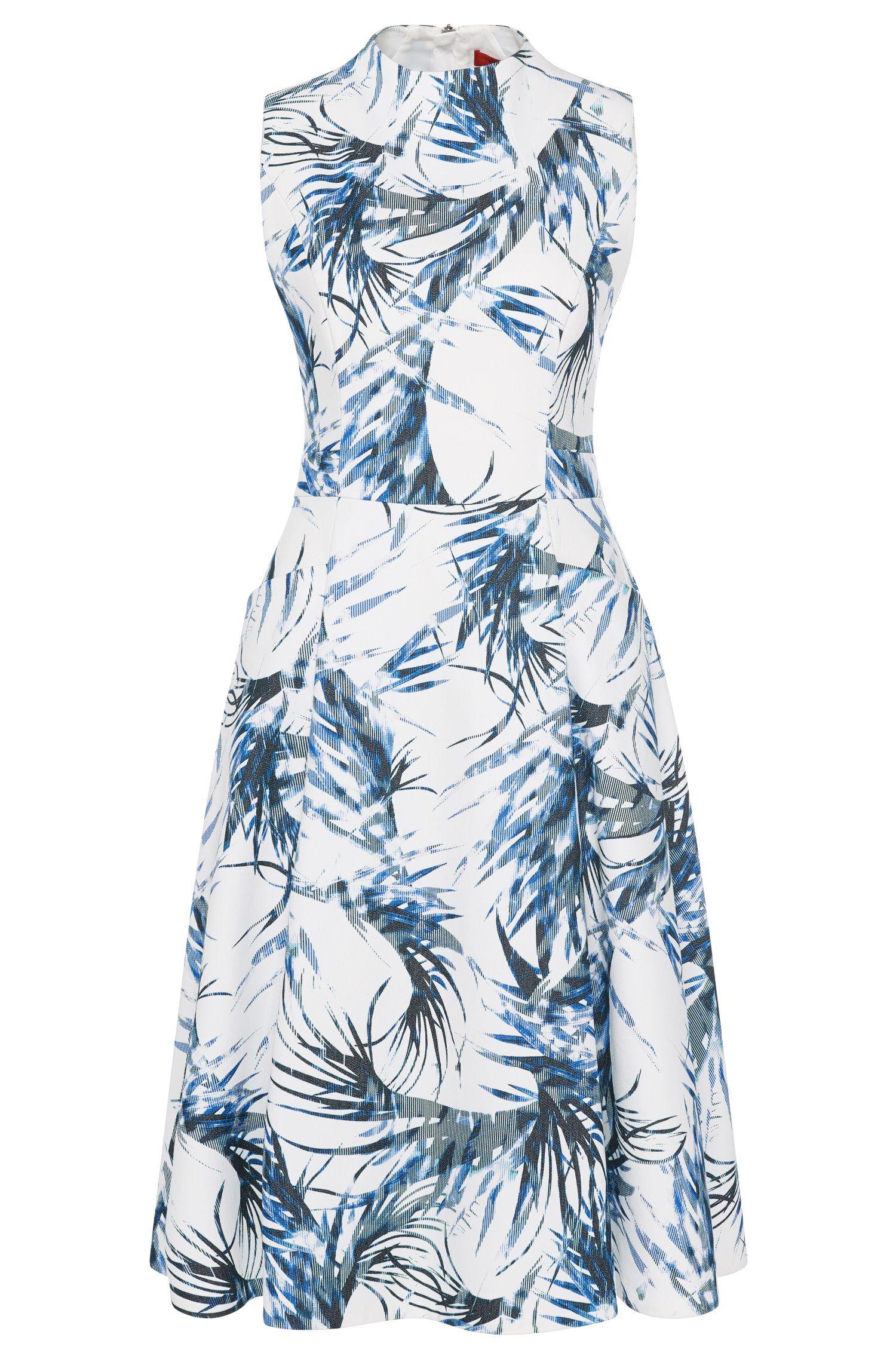 Gemustertes Kleid aus elastischem Baumwoll-Mix: 'Kaylo'