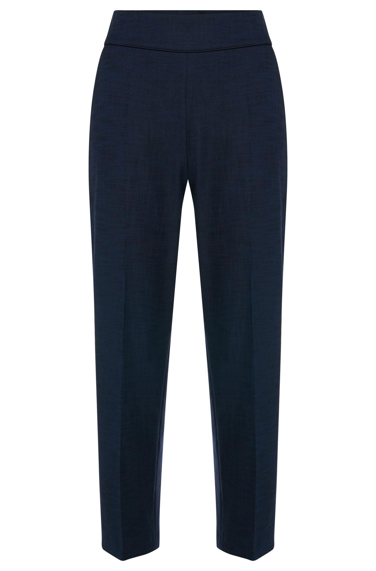 High waisted broek van een elastische katoenmix: 'Hababi'