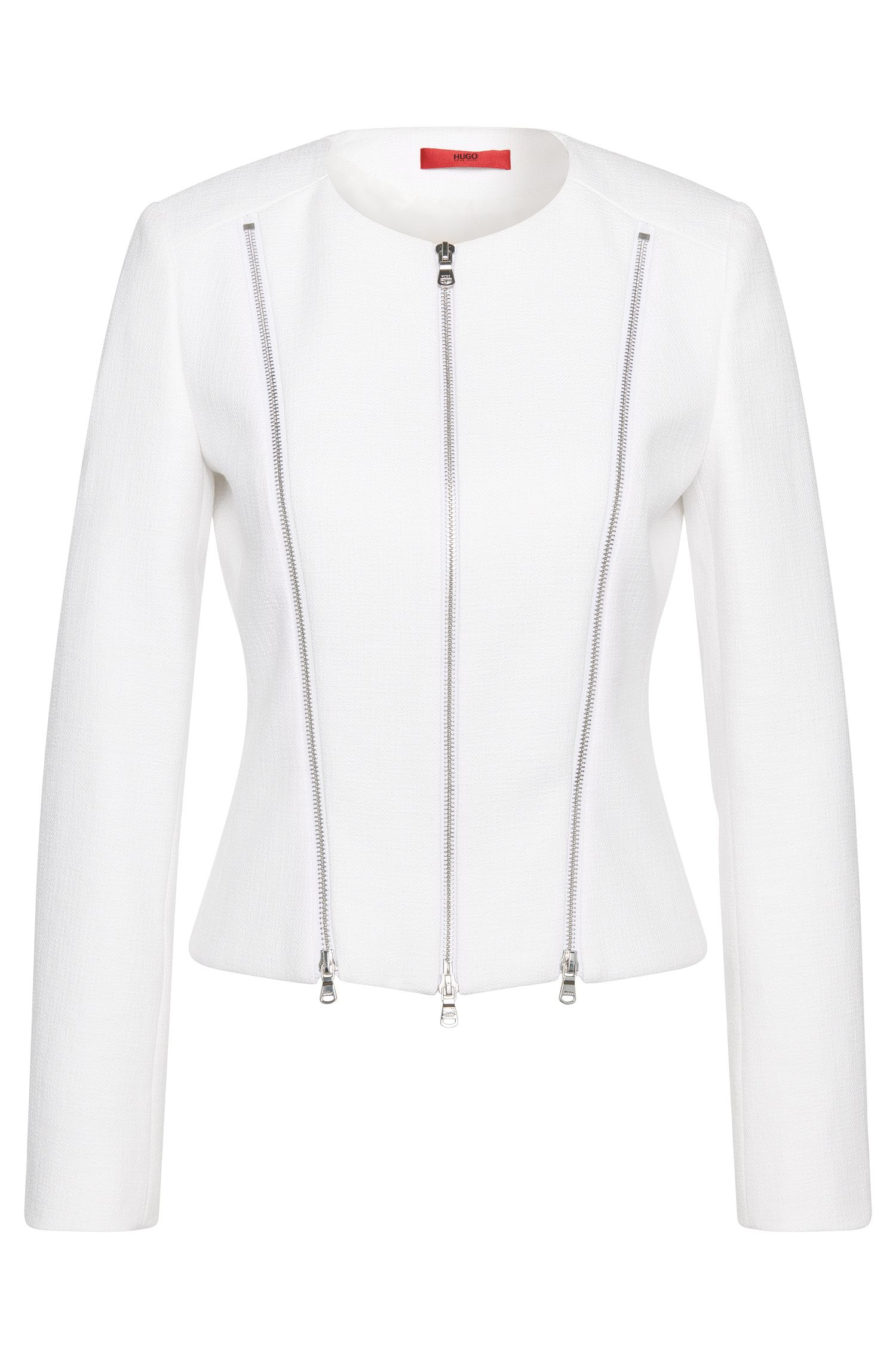 Blazer in a stretchy cotton blend in biker style: 'Alici'