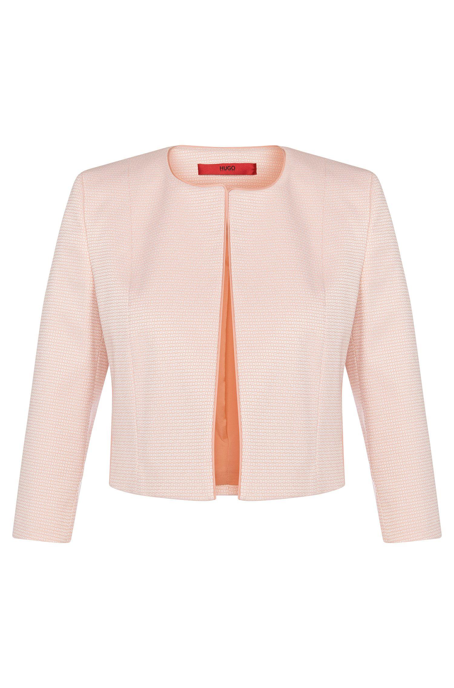 Veste courte de coupe ouverte en coton mélangé extensible: «Aveni»
