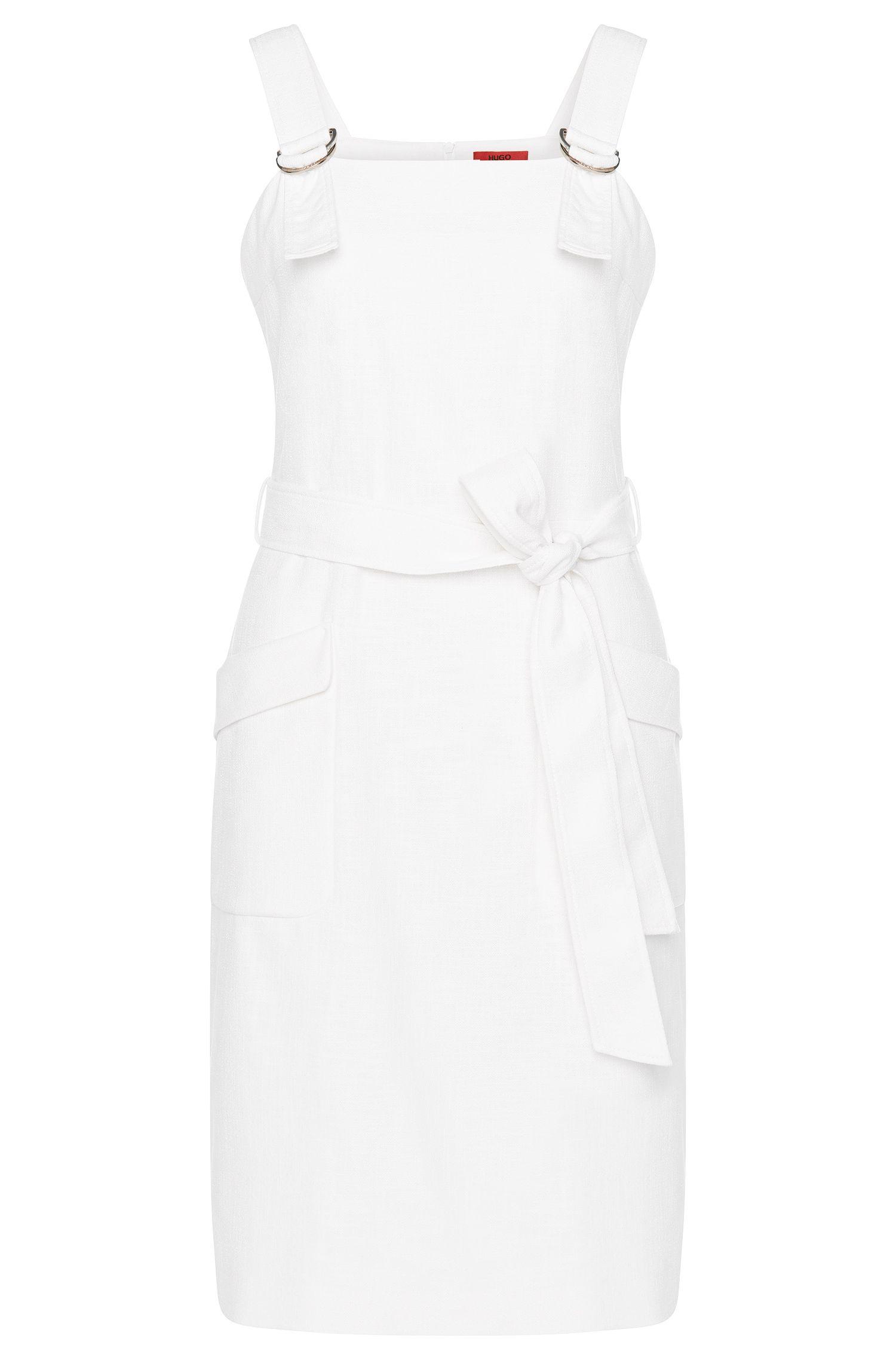 Kleid aus Baumwoll-Mix mit Latzträgern: 'Kenine'