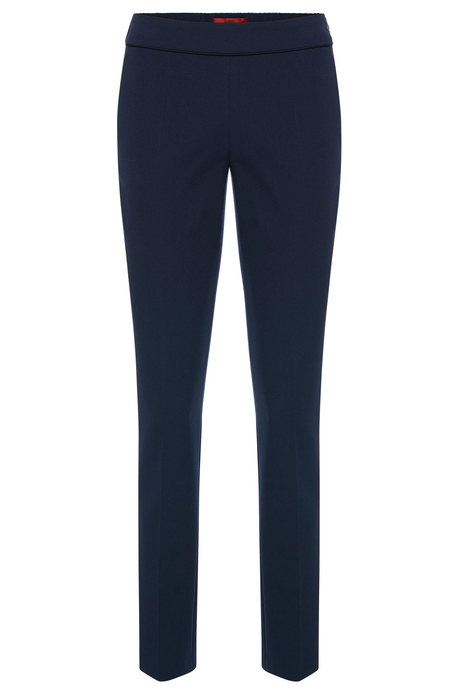 Pantaloni con piega lavorati con vita elasticizzata: 'Hinomi'