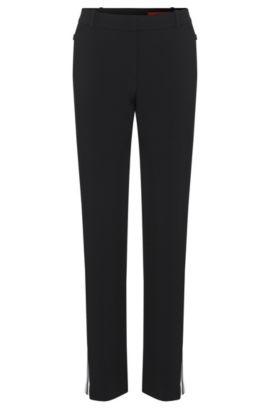 Pantalon doté d'empiècements de couleur contrastante: «Haraya», Noir