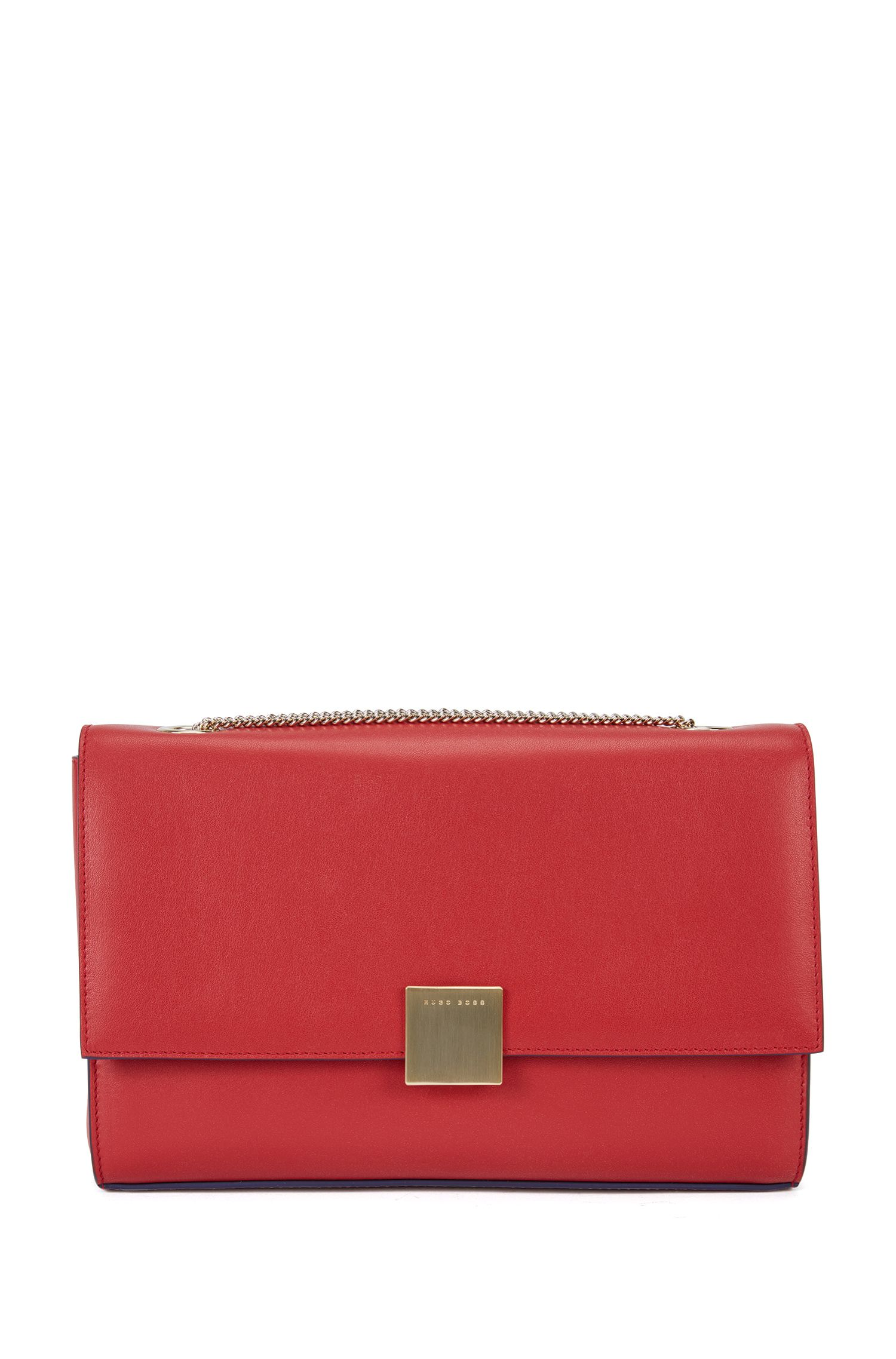 Leather clutch with shoulder chain: 'Munich Flap-N'