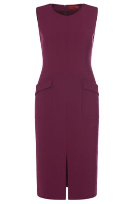 Sheath dress with patch pockets: 'Klenni', Purple