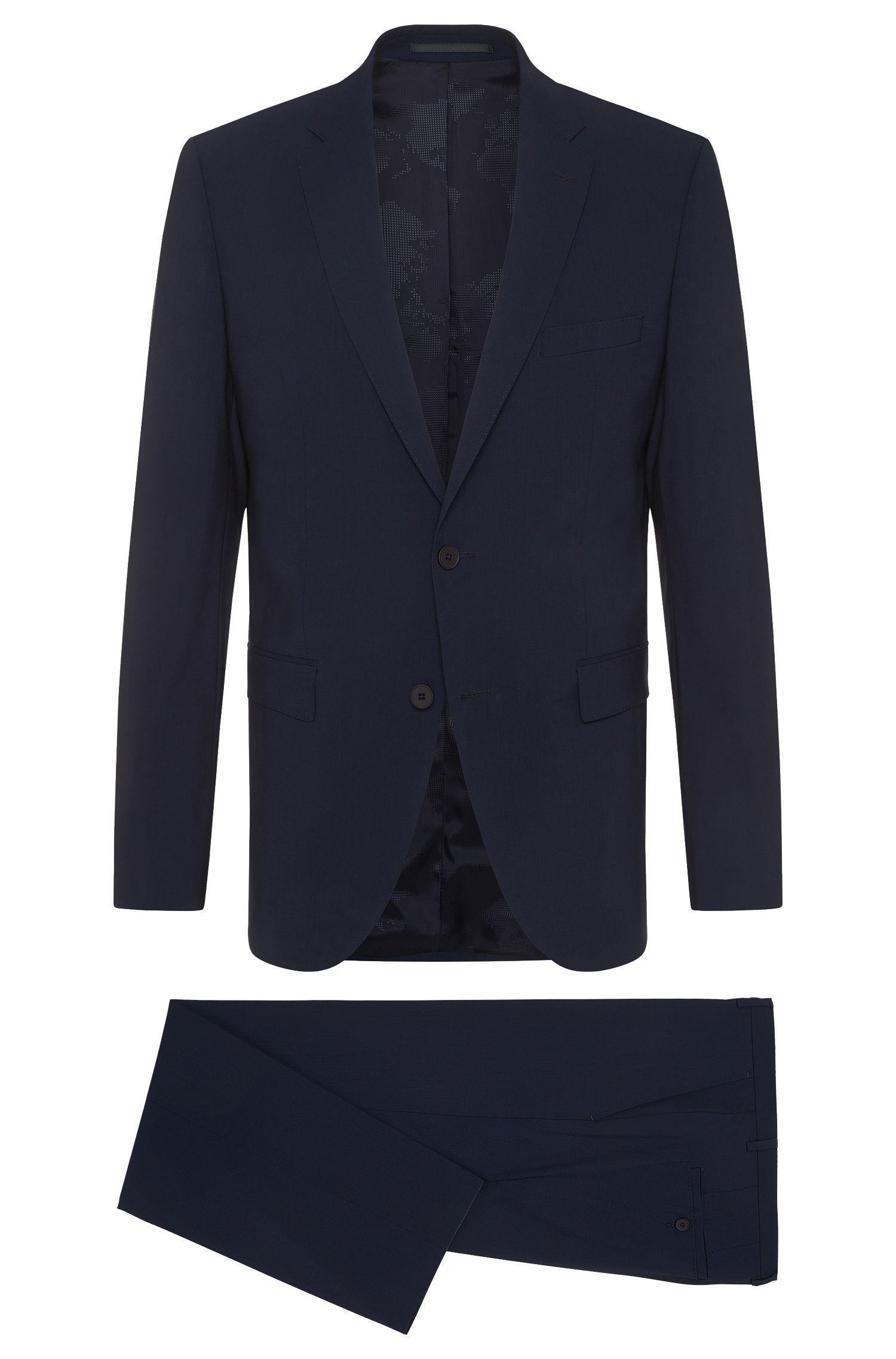 Regular-Fit Travel Line Anzug aus elastischem Schurwoll-Mix: 'Jets2/Lenon'