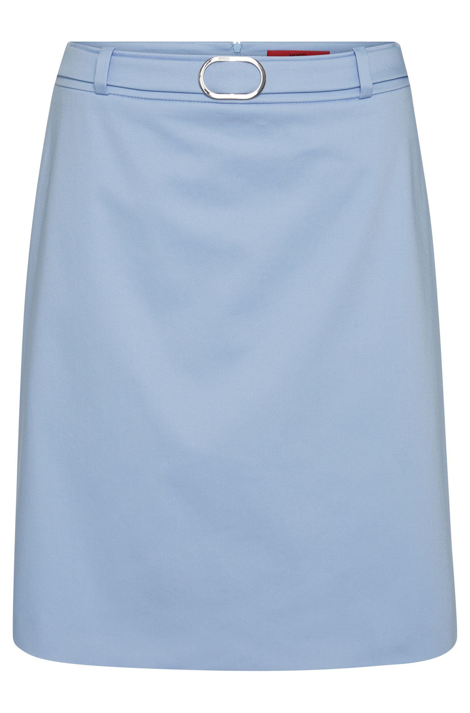 Slightly flared skirt in stretch cotton: 'Rumena'