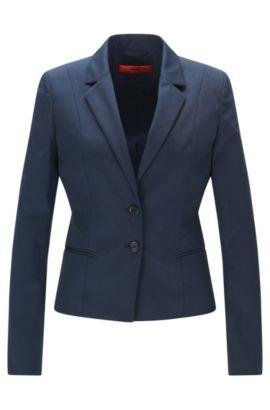 Taillierter Blazer aus Stretch-Baumwolle: 'Arkana', Blau