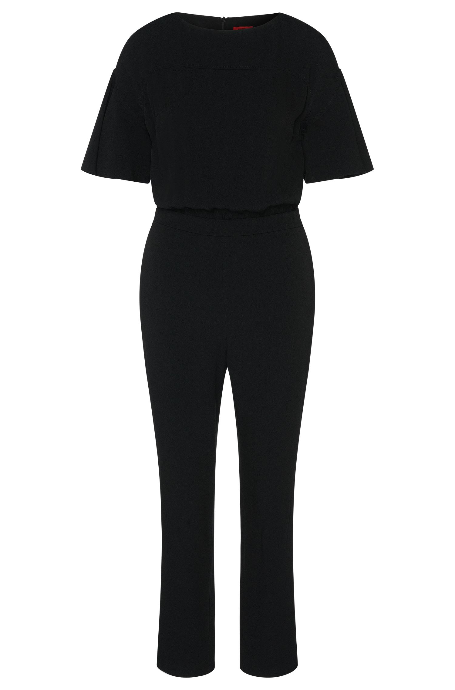 Jumpsuit with short trumpet sleeves: 'Kaire'