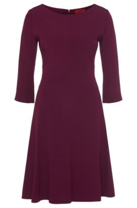 Fitted dress with 7/8-length sleeves: 'Kusima', Purple