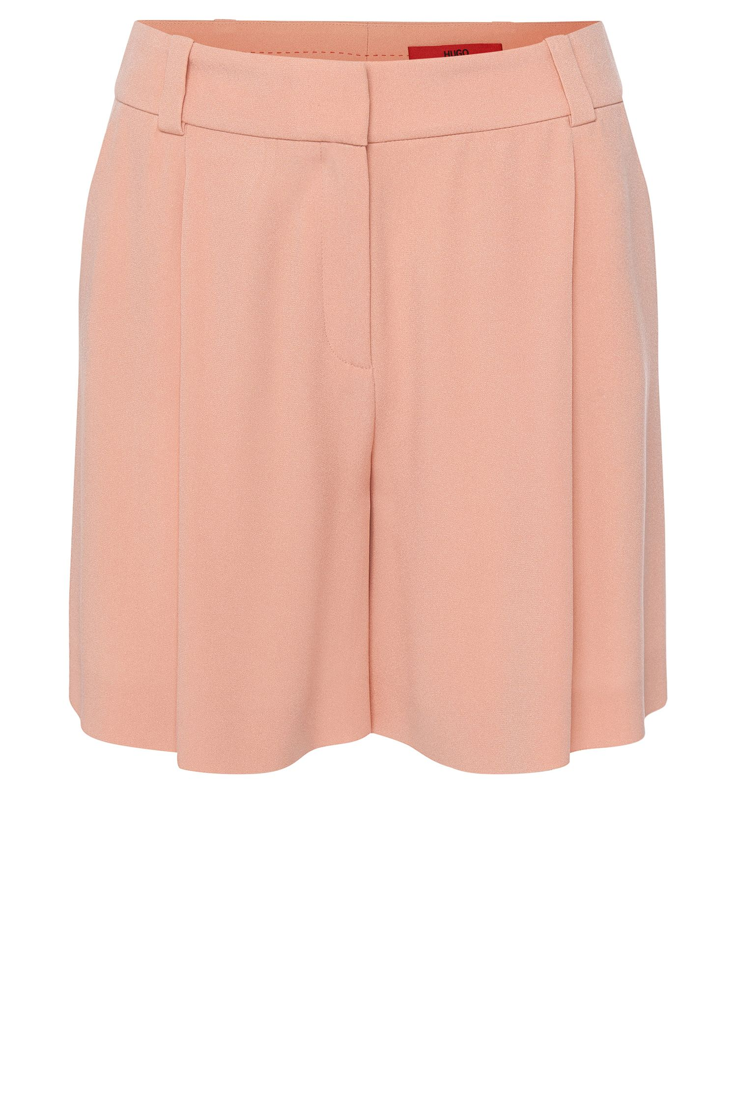 High-rise fitted shorts with waist pleats: 'Herki'