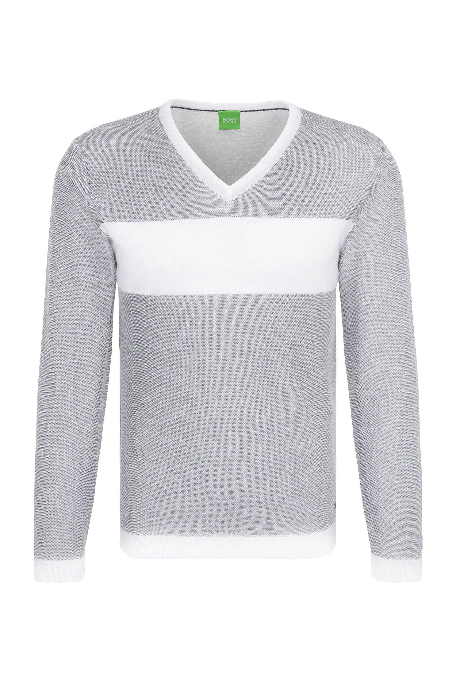Sudadera slim fit en algodón con rayas horizontales: 'Vams'