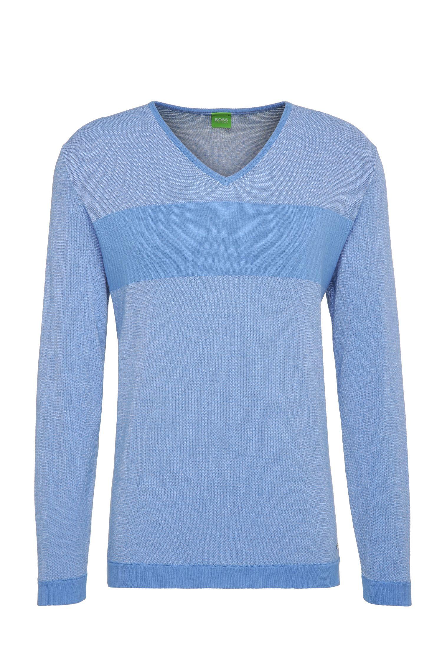 Slim-Fit Sweatshirt aus Baumwolle mit Querstreifen: ´Vams`