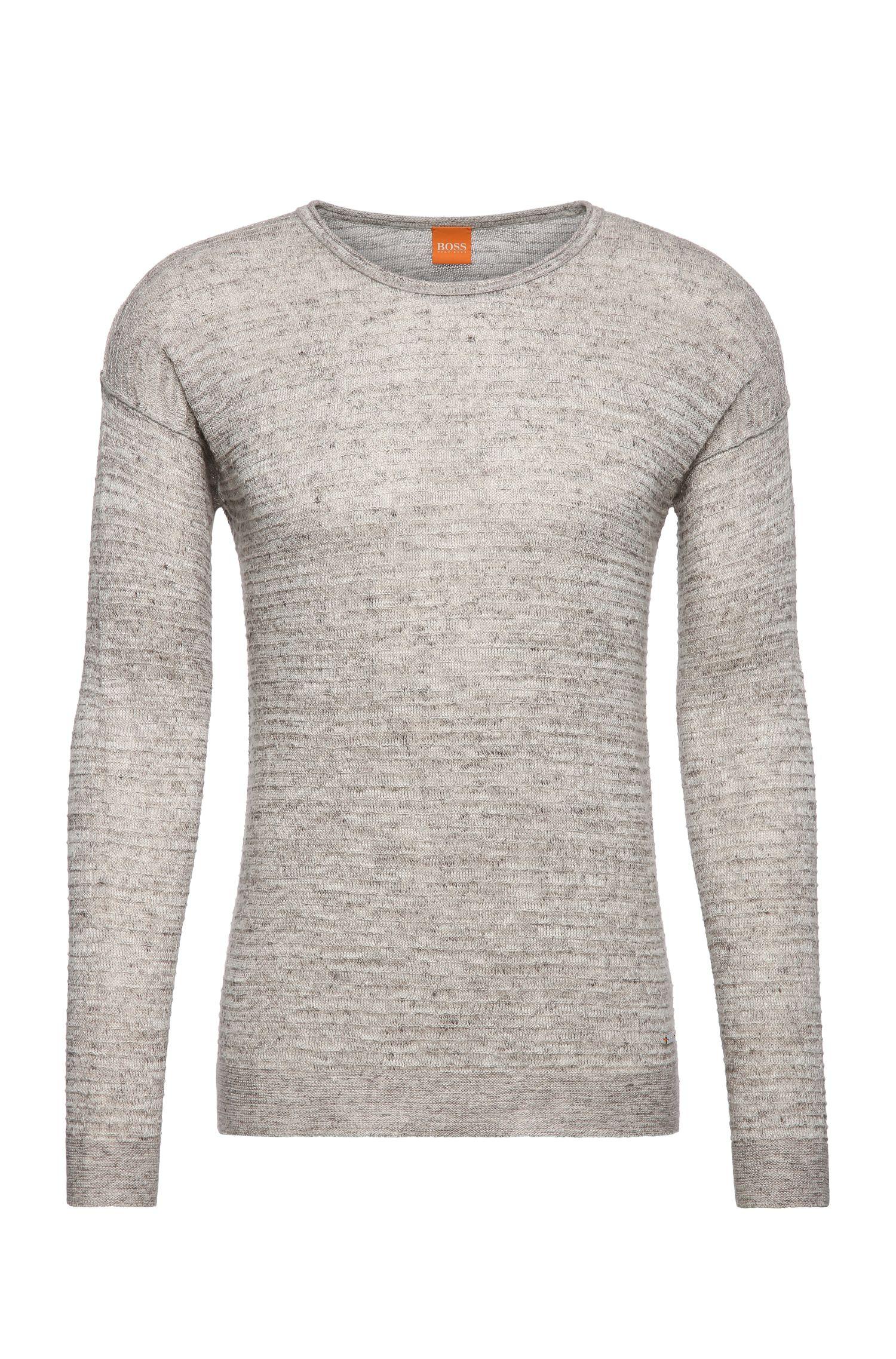 Gestrickter Pullover aus Leinen-Mix mit Baumwolle: ´Atounys`