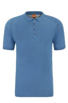 Hemd aus Leinen im Polo-Stil: ´Kostrien`, Hellblau