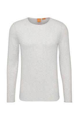 Pullover in maglia in cotone: 'Kwameros', Grigio chiaro