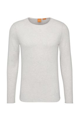 Knitwear sweater in cotton: 'Kwameros', Light Grey