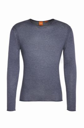 Knitwear sweater in cotton: 'Kwameros', Dark Blue