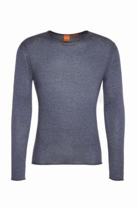 Pullover in maglia in cotone: 'Kwameros', Blu scuro