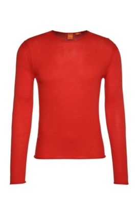 Knitwear sweater in cotton: 'Kwameros', Red