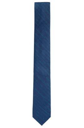 Cravate en soie à motif: «Tie 6cm», Bleu