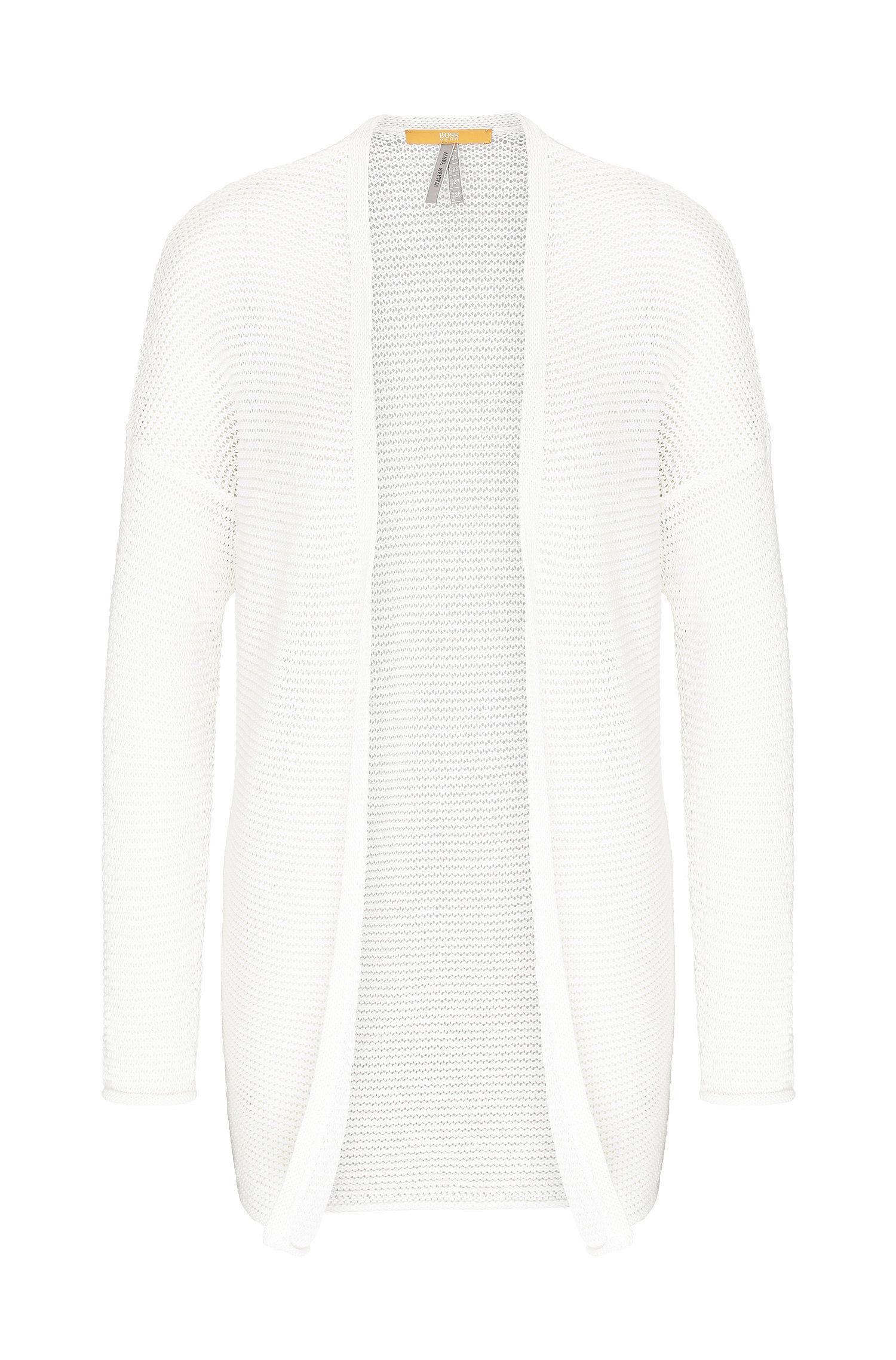 Gebreid relaxed-fit vest van katoen: 'Idellaine'