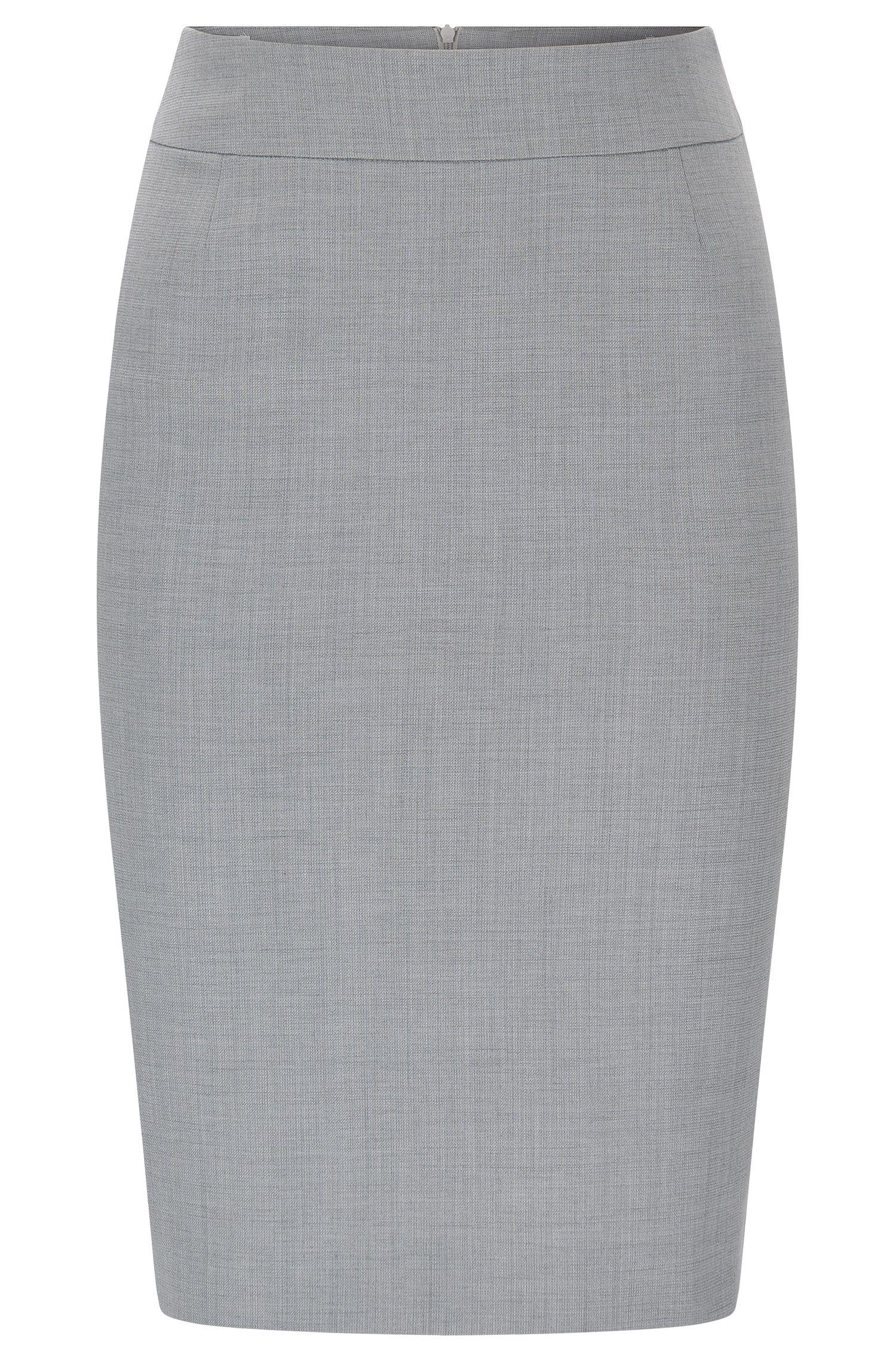 Bleistiftrock aus strukturierter Stretch-Schurwolle: 'Vimesa'