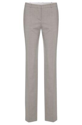 Fein strukturierte Regular-Fit Hose aus Stretch-Schurwolle: 'Tamea1', Silber