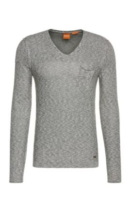 Knitwear sweater in cotton blend with viscose: 'Abramut', Grey