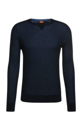 Knitwear sweater in cotton: 'Kawanan', Dark Blue