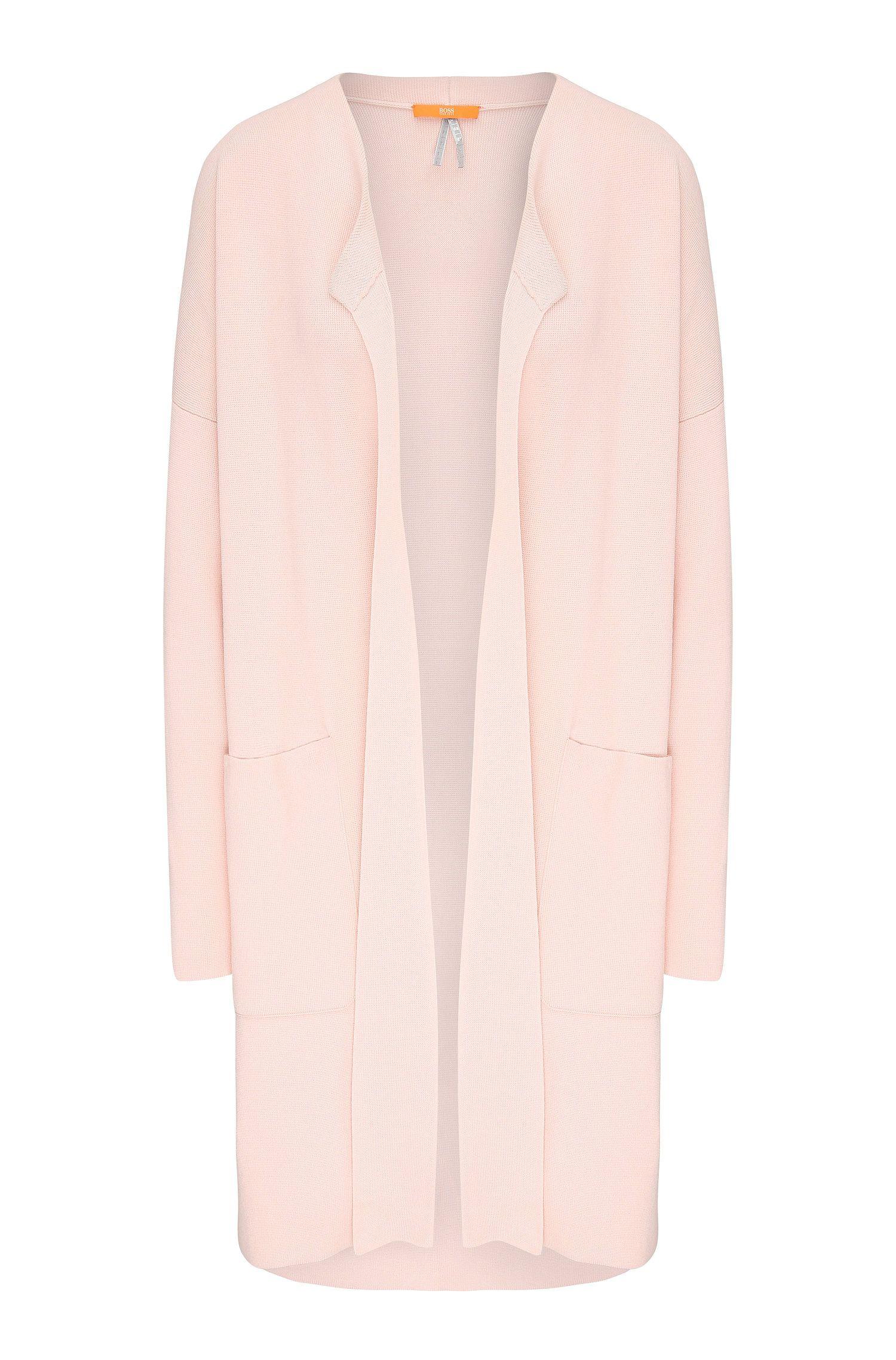 Longue veste en maille Relaxed Fit en mélange de matières, à poches plaquées: «Iranya»