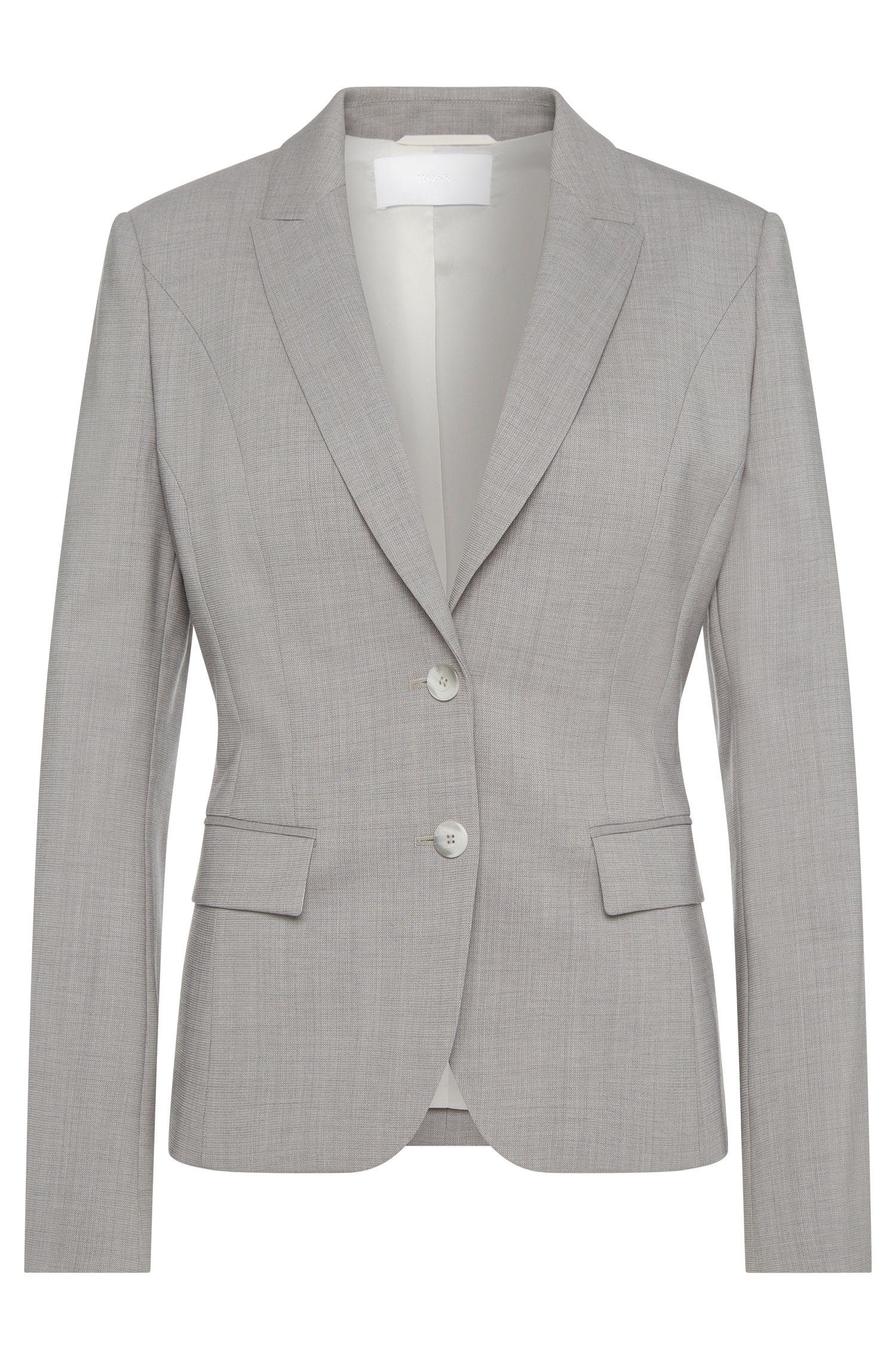 Blazer con textura fina en lana virgen elástica: 'Jimelana'