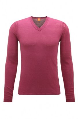 Linen knit sweater: 'Klasht', Pink