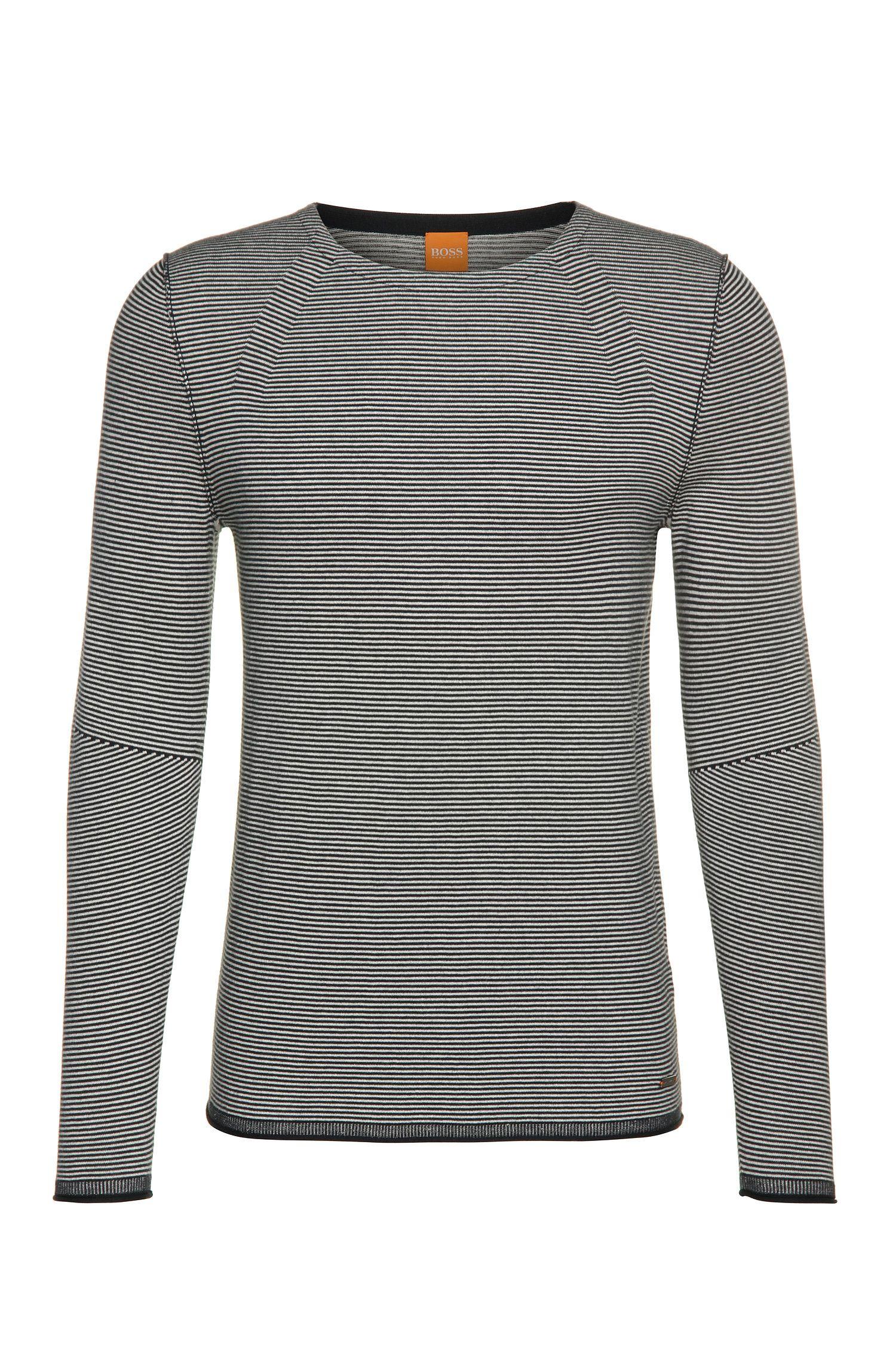 Gestreifter Pullover aus Baumwoll-Mix mit Viskose und Seide: ´Aleynsir`