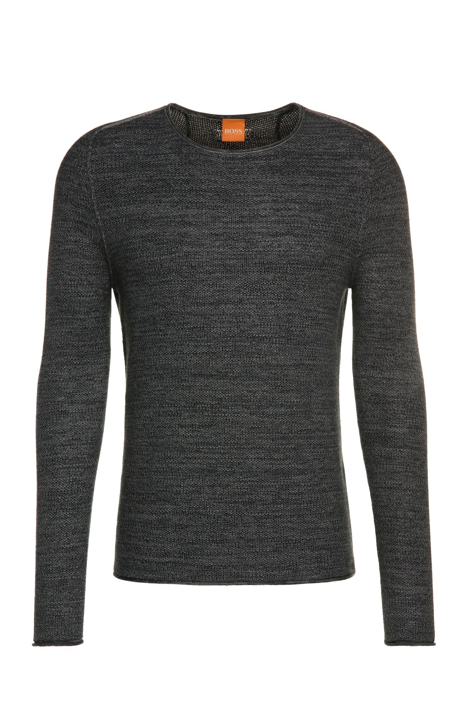 Effektvoller Strick-Pullover aus Baumwoll-Mix mit Viskose und Seide: ´Akmerso`