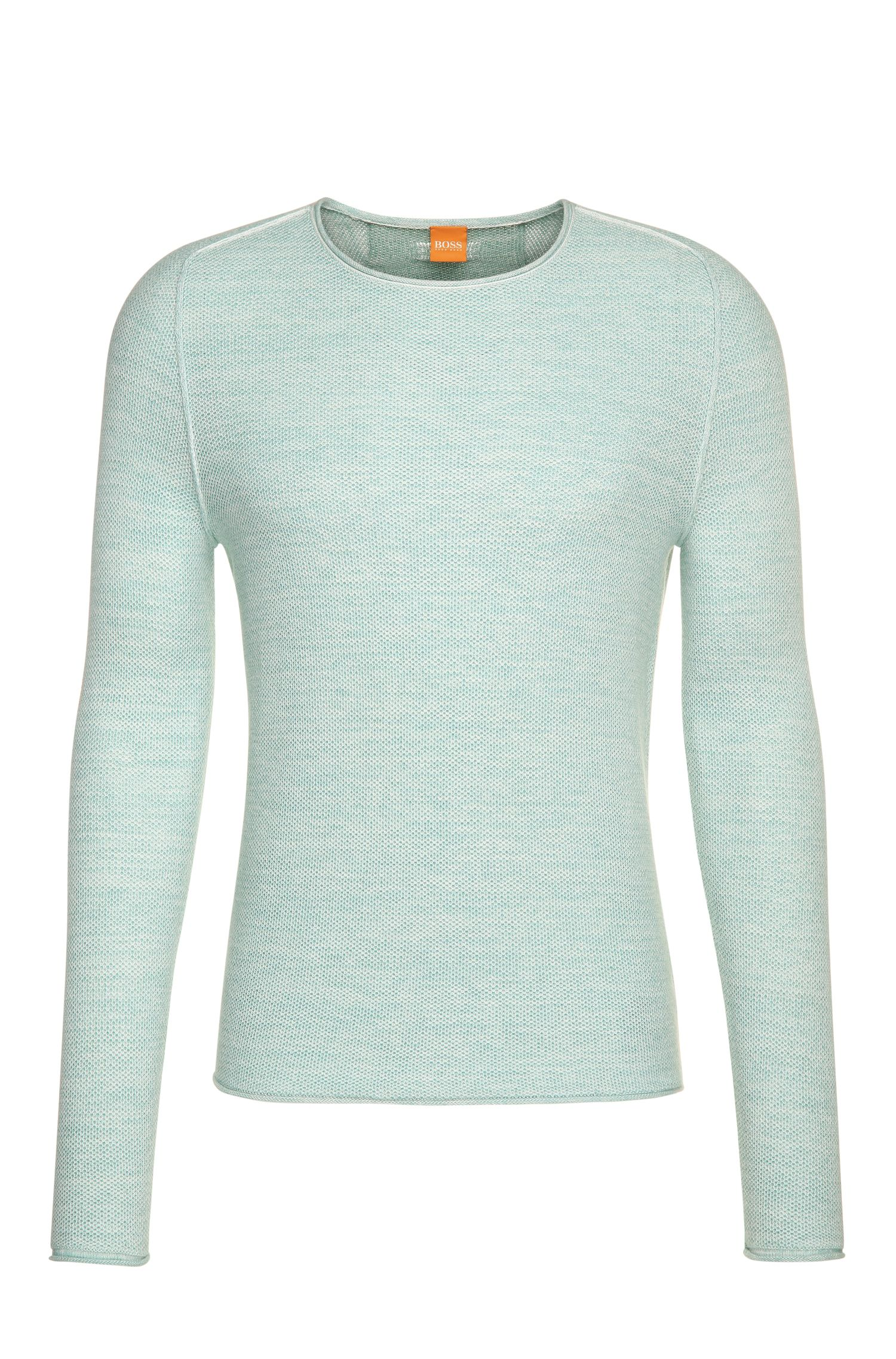 Striking knitwear sweater in cotton blend with viscose and silk: 'Akmerso'